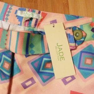 Jade Shorts - NWT Jade Melody Tam sz 8 ikat geo print shorts